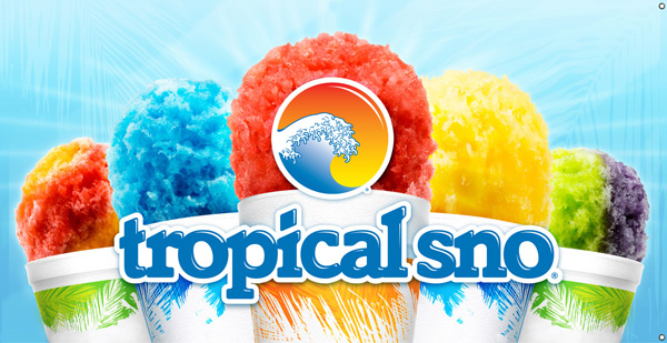 Six popular snow cones at Tropical Sno Fayetteville
